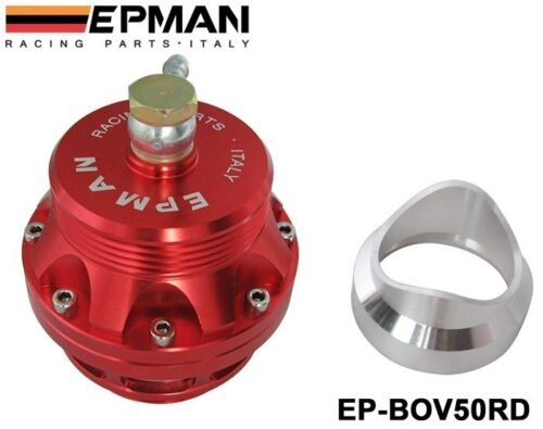 EPMAN SPORT EP-BOV50RD 50mm Weld or Clamp on Blow Off Valve RED