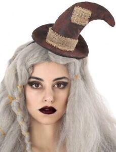 Details Sur Femmes Epouvantail Mini Chapeau Halloween Carnaval Livre Jour Fantaisie Costume
