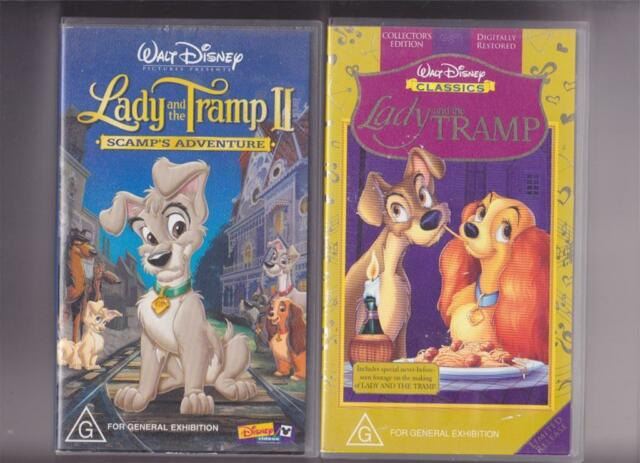 Walt Disney Classics Lady And The Tramp Vhs Video For Sale Online Ebay
