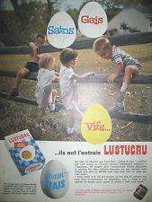 PUBLICITE DE PRESSE LUSTUCRU PATES AUX OEUFS FRAIS FRENCH AD 1964