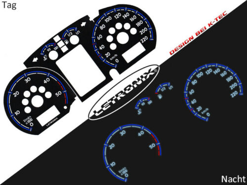Autoilluminati Tachimetro Tachimetro plasma VW Polo 9n DIESEL 0-220 KM//H #