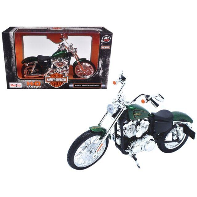 Maisto Harley-Davidson 2013 XL 1200v 1200 V seventy-two verde Green 1:12 moto