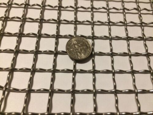 """Stainless Steel Mesh Crimped-304 Mesh #2 .063 Stainless Steel Wire Mesh 6/""""x 18/"""""""