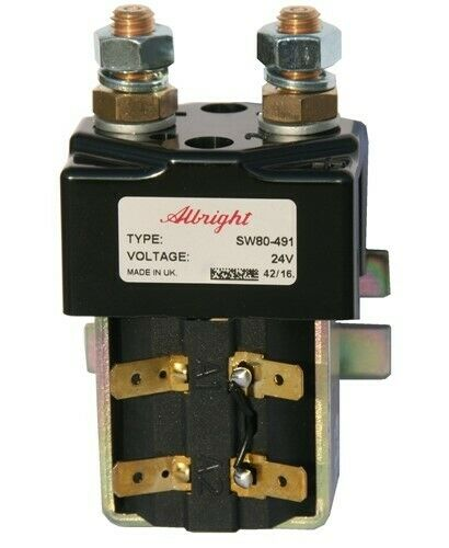 NEW SW80-491 24VDC CURTIS//ALBRIGHT CONTACTOR