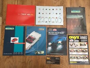 8-x-IXO-Vitesse-Onyx-1991-to-2011-colour-catalogues-Ferrari-F1-Road-cars-Mansell