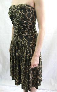 NWT-Diane-von-Furstenberg-Size-8-Chocolate-Brown-Silk-Party-Dress