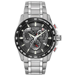 Citizen-Eco-Drive-Men-039-s-A-T-Chronograph-Black-Dial-42mm-Watch-AT4008-51E