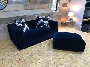 Alexander-James-blue-2-str-Chesterfield-retro-modern-contemporary-footstool-NEW