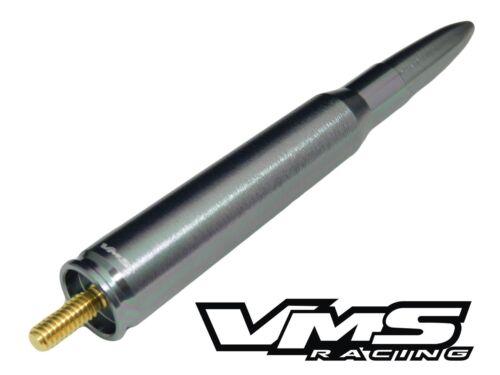 VMS FORD F150 F250 50 CALIBER BULLET ALUMINUM SHORT ANTENNA GUN METAL