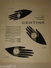 *20=CERTINA OROLOGIO WATCH=1954=PUBBLICITA'=ADVERTISING=PUBLICIDAD=WERBUNG=