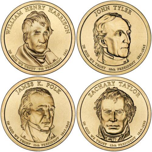D Presidential Dollar 4 Coin Set Denver Mint Fast Shipping 2009