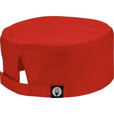 Chefs Cool Vent Beenie RED  Restaurant Kitchen