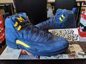 more photos 6fc06 17e38 Image is loading Nike-Air-Jordan-Retro-XII-12-Michigan-NRG-