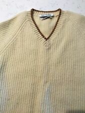 VINTAGE Dior Mens Wool V Neck Pullover Sweater Size Small warm