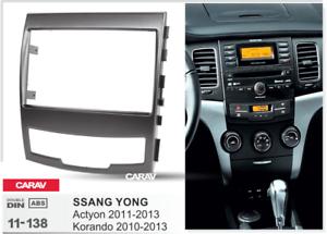 CARAV 11-138 2-DIN Marco Adaptador de radio SSANG YONG Actyon Korando 2011-13