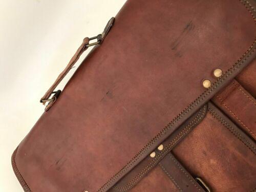 Bag Leather Goat Men S Messenger Laptop Vintage Genuine Shoulder Brown Briefcase