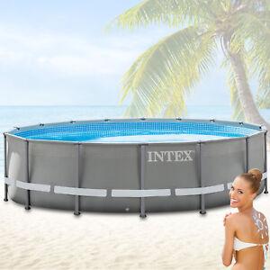 intex 549x132 swimming pool frame stahlwandbecken. Black Bedroom Furniture Sets. Home Design Ideas