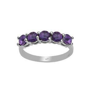 Stacking-925-Sterling-Silver-Amethyst-Half-Eternity-Stackable-Wedding-Band-Ring