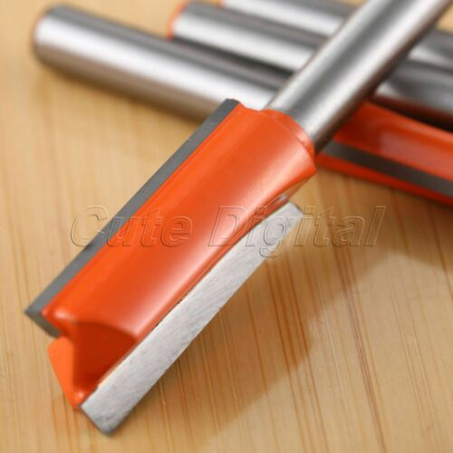 """1//4/""""*1//4/"""" Wood Straight End Trim Router Bit Woodworking Trimming Milling Cutter"""