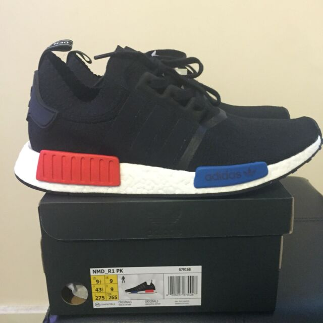 Adidas NMD R1 Pk OG Black and White Size UK 9 EU 43.33 S79168 914552710