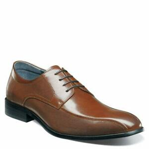Stacy-Adams-Mens-Julius-Leather-Lace-Up-Dress-Oxfords-Cognac-Size-11-0-7SDY