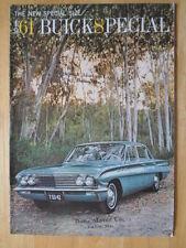 BUICK Special 1961 orig large format USA Market prestige brochure