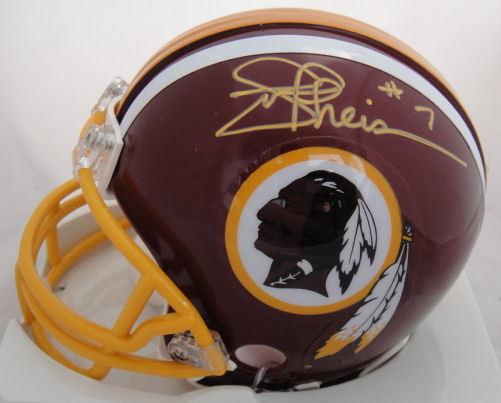 Joe Theismann Signed Redskins 83 MVP Mini Helmet JSA