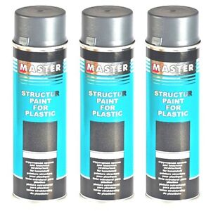 master troton strukturlack f r kunststoff grau 1 x 500ml spray lack plastik ebay. Black Bedroom Furniture Sets. Home Design Ideas