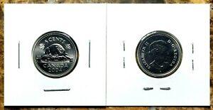 Canada-2004P-Specimen-Gem-UNC-Five-Cent-Nickel