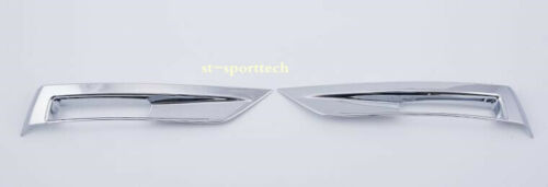 FIT FOR Nissan KICKS 2017-2018 ABS Chrome Rear Fog Light Lamp Cover Trim 2pcs