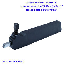 14 Hss Tool Bit Holder American Type Lathe Turning Straight 78 X 38 Inch