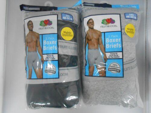 Fruit of the Loom Men/'s Boxer Briefs 6-PACK M-3XL ASSORTED COLORS//PRINTS
