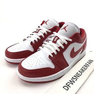 Nike Air Jordan 1 Low Gym Red Men S 7 Basketball Shoes 553558 611