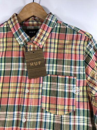 Helm Mittel Up Herren Lachs Huf Größe Kariertes Langarmhemd Button HORTIaxpqw