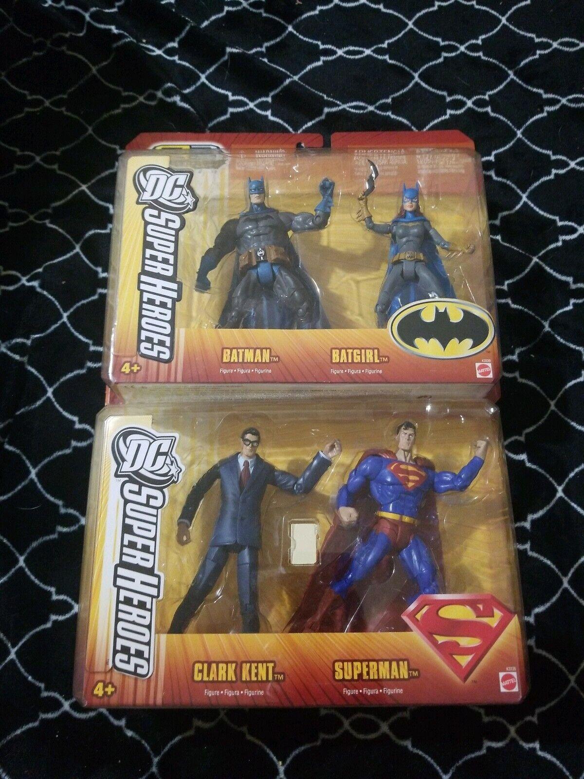 DC Super Heroes Lot SUPERuomo & CLARK KENT   Batuomo & batgirl  s3 select sculpt