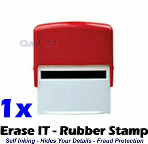 Erase It Stamp Self Inking ID Protection Identity Theft Hide Roller Privacy Ink