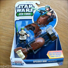 STAR WARS Jedi Force SPEEDER BIKE with LUKE SKYWALKER Playskool Heroes HASBRO