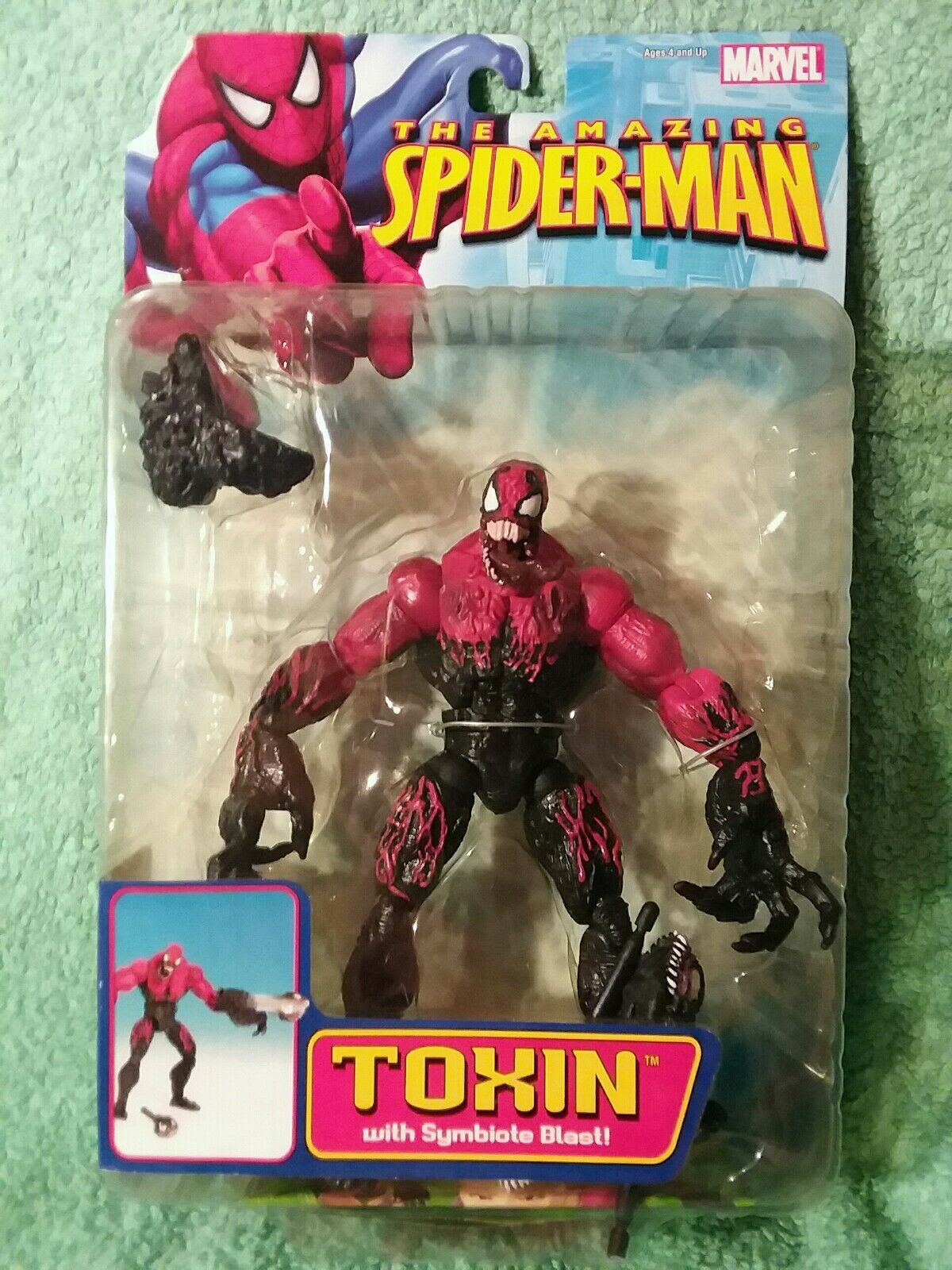 TOXIN symbiote blast   Marvel legends   Amazing Spider Man 6 figure TOYBIZ 2006