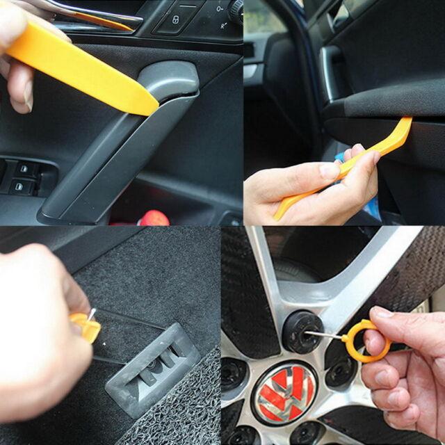 12pcs Car Radio Door Clip Panel Trim Dash Audio Removal Pry Tool Kit Plastic E