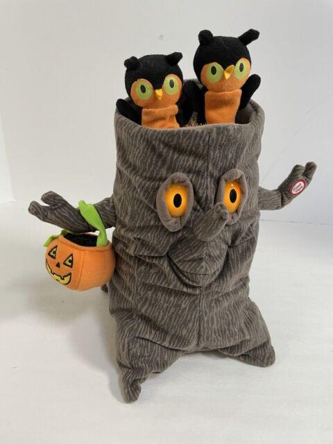 Hallmark Halloween Tree Owls Animated Plush Lighted Singing Music Addams Family