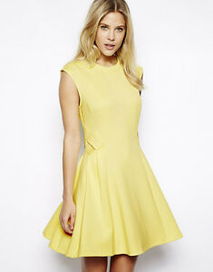e366c54c94bb6b Image is loading Ted-Baker-Nistee-Skater-Dress-Size-3-8-