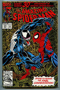 Amazing-Spider-man-375-Giant-Size-30th-Gold-Foil-Marvel-Comic-NM-1992-Amricons