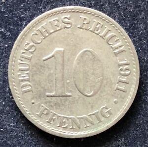 10 Pfennig 1911 A Wilhelm II Deutsches Reich KM#12 - Heist, Deutschland - 10 Pfennig 1911 A Wilhelm II Deutsches Reich KM#12 - Heist, Deutschland
