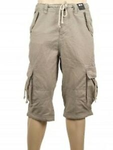 River-Island-Beige-Small-Print-Cargo-Shorts-Sizes-28-30-32-34-36-38