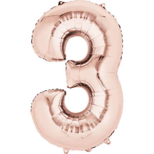 environ 101.60 cm fête de mariage 40 in toutes occasions Feuille or rose Nombre Ballons pour anniversaire
