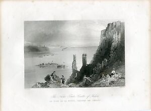 Austria-The-Nuns-Tower-Castle-Of-Theben-Engraving-By-W-H-Bartlett