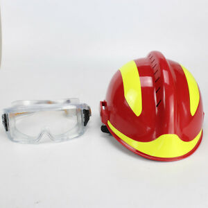 Rescue-Helmet-Fire-Fighter-Protective-Glasses-Red-China-CAPF-Safety-Protector-F2