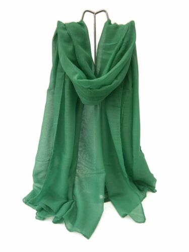 Ladies Plain Pashmina Scarf Wrap Wine//Pink//Green//Blue//Light Purple