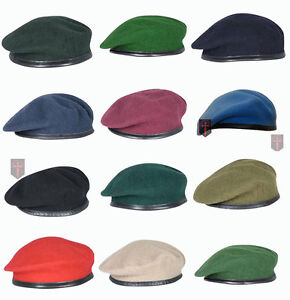All-Colours-High-Quality-British-Military-Beret-Berets-All-sizes-Officers-OR-039-s