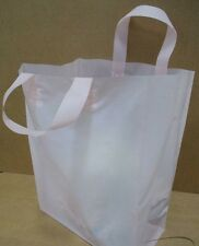 Frosted Plastic Shopping Bag Retail Merchandise Gift Party Tote LOT Bulk Medium